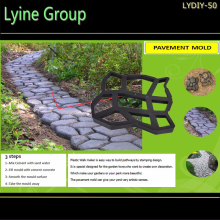 Lyine concrete cement pathway walk pattern paving plastic garden sidewalk DIY Recycled injection pavement molds