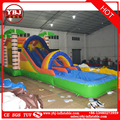 Long gaint castle playground inflatable slides for sale/commercial inflatable used slide