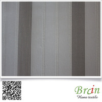 280cm Anti-static 100% Polyester Stripe Jacquard Sheer Curtain Fabric