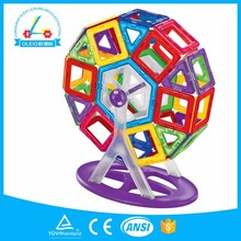2017Hot selling magnet connecting magnetic tiles building blocks toy for kids