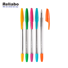 Reliabo Factory Direct Custom Logo Printed Cheap Price Plastic Stick Ball Pen For Promotion
