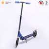Hot selling OEM acceptable Euramerican style durable Aluminum alloy folding 2 PU big 200mm wheels adults foot kick scooter