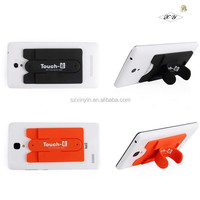 Universal silicone sticky mobile phone stand/smartphone holder with competitive price