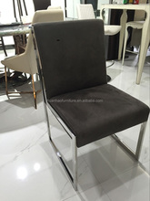 Square stainless steel legs modern hotel dining chair Y8504