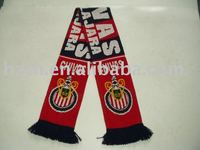 knitted football fan scarf