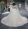 Luxury Ball Gown Hearted Shaped Back Long Sleeve Muslim Bridal Wedding Dress