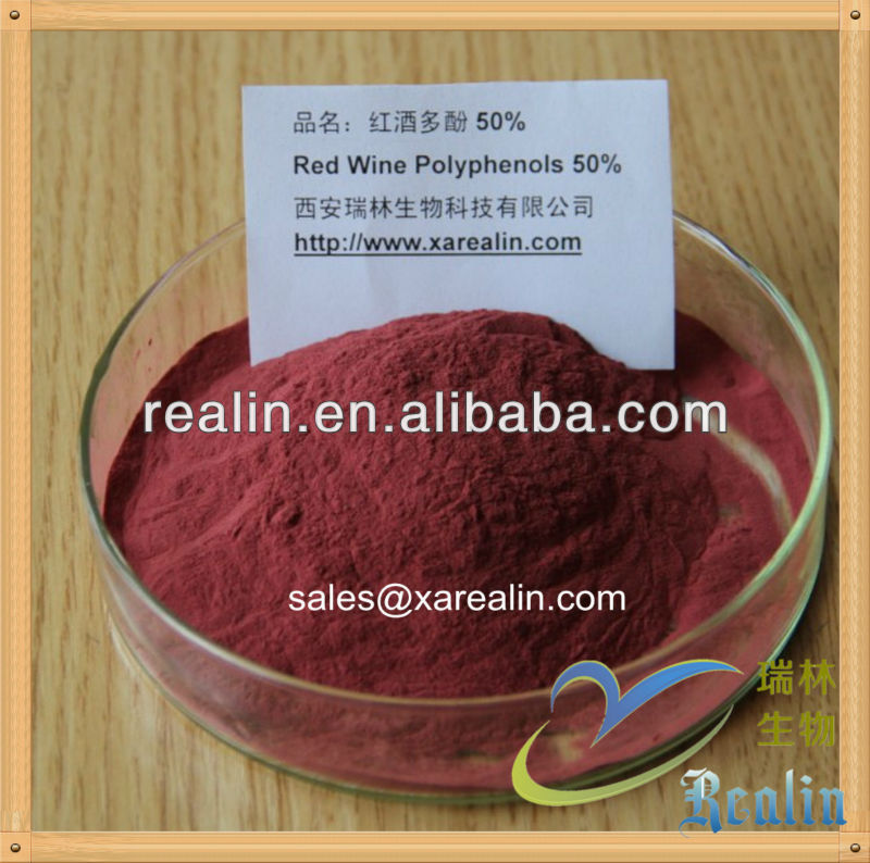 High Quality red wine polyphenol, red wine extract strong antioxidant with low price