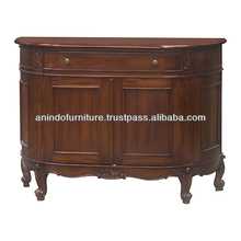 Half Oval Mahogany Buffet with 2 Doors and 1 Drawer