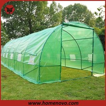 8*3*2.13 M Green PE Grid Cloth Steel Tube Garden Green House