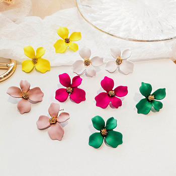 STAR PRODUCT! 2021 New Designs Earrings Women Jewelry Wholesale COLORFUL Flower Hoop Earrings Fashion Earring women