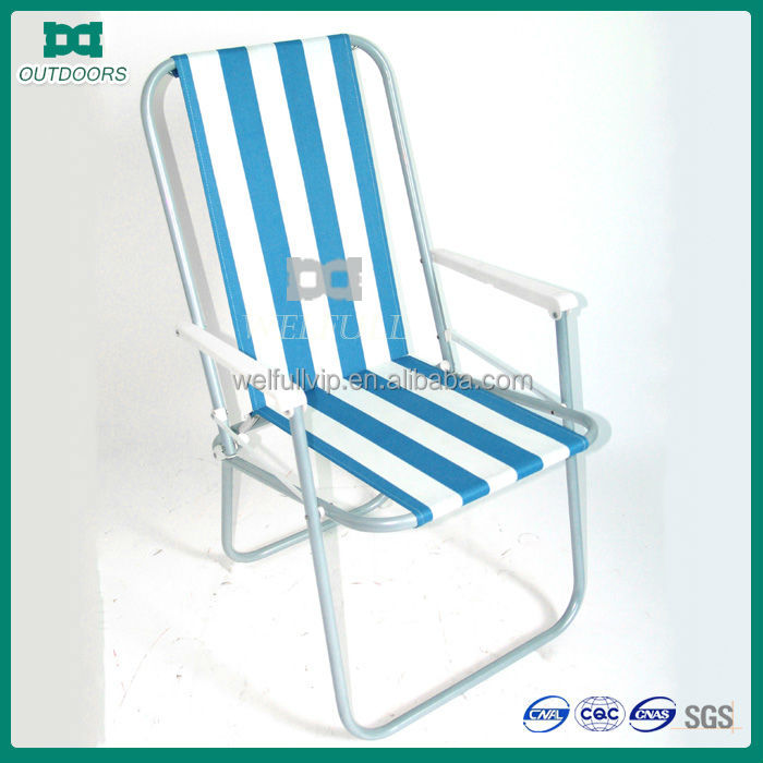 Travel leisure relax metal foldable beach outdoor chair