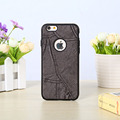 Jeans Cloth Pattern Hybrid PU Leather TPU Edge Back Cover Case for Iphone 7 / 7plus