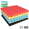 Pyramid shape acoustic material soundproof foam for singapore