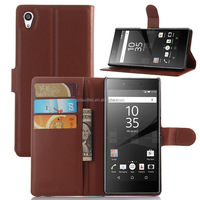 leather flip cover case for sony xperia z5 premium ,colorful wallet leather case