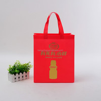 promotion recycle red color non woven shopping bag and ultrasonic non woven bag
