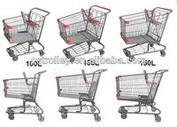 metal wire basket carts with 4 wheels