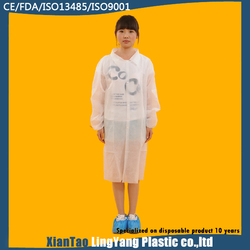 Nonwoven SMS soft school lab coats