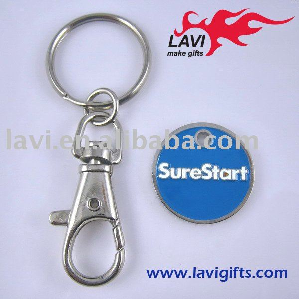Shopping token coin with keyrings