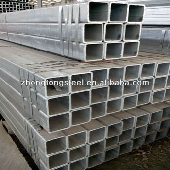 galvanized square hollow section ms tube