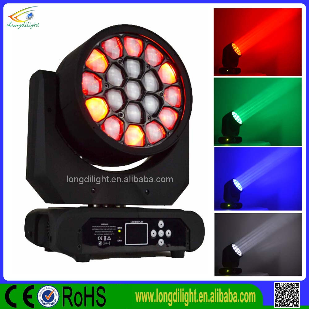 Zoom 19*10W 4in1 led moving head beam mini bee eyes