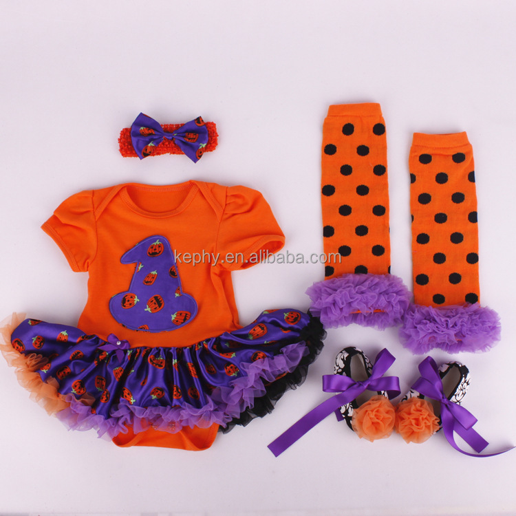 Baby Girls red with white Halloween outfit new born Pettiskirt and Headband and shoes Set NB-12M with leg warmers 4pcs set