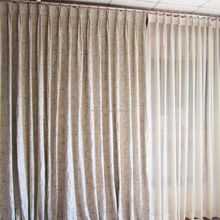 Luxury European Style Window Curtain Grey Drapery And Beige Sheer Jacquard Fancy Living Room Curtains