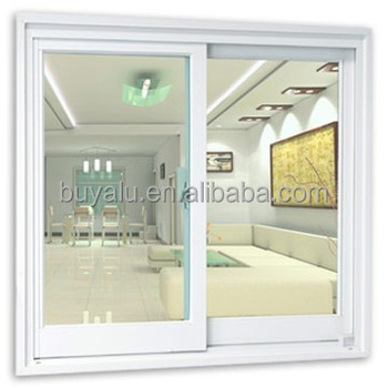 2013 Year Hot Sale High Quality Aluminium window sliding window in Whit powder coating