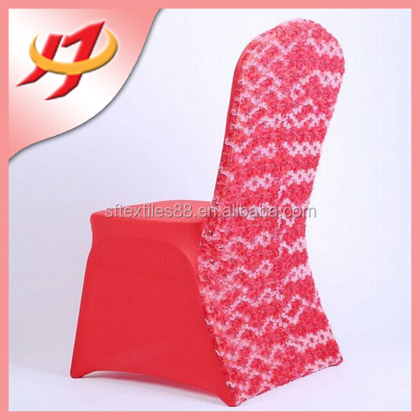Hot sale pink spandex chair covers for weddings