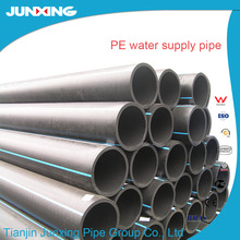 Jun Xing HDPE pipes and fittings with PE 100 material grade for Portable water pipe line