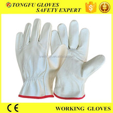 cheap funiture /pigskin/cow leather mens driving gloves without lining/full lining work gloves BC grade