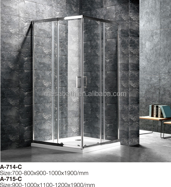 2017 New rectangle shape dubai steam shower screen cabin price in pakistan with sliding glass