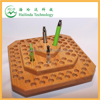2014 high quality new ecig wooden display stand