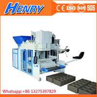 Germany Technology QTM10-15 fully automatic egg laying block making machine price, mobile tiger brick machine block