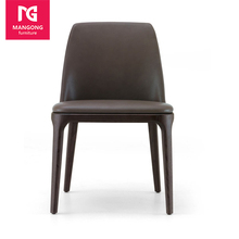 New fashion wood modern design leather dining chair for sale
