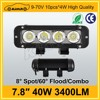 "CE certification tuning light 7.8"" 40W bicycle led light bar"