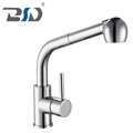 New Design Brass Kitchen Single Lever Pull Out Kitchen Faucet