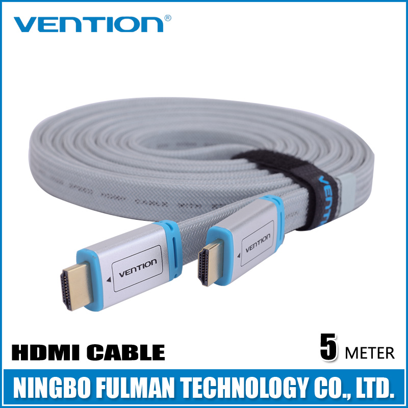 Vention High-End 2K*4K flat 2.0V blue hdmi cable with metal casing