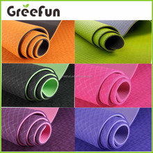 2017 Hot Sale 4mm TPE eco friendly anti slip yoga mat with carry strap easy washable sport mat manufacturer