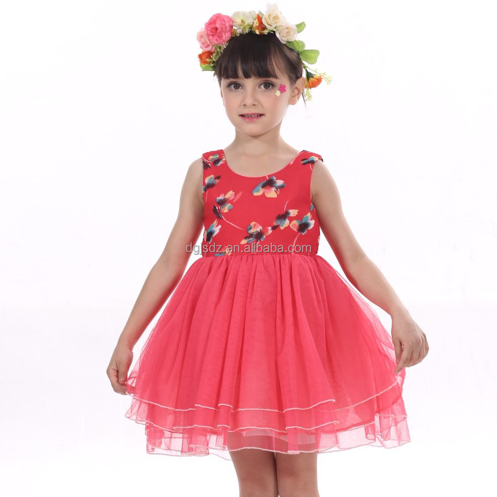 red fashion dress children wonderful frock kid lovely dress patterns