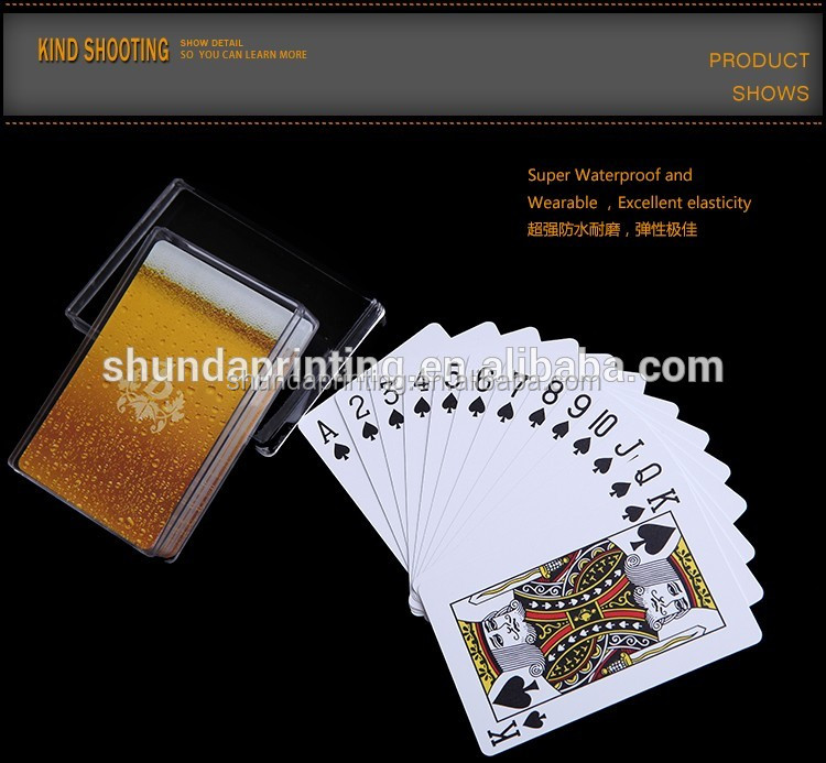 Favtory Supply Custom made 100 plastic playing cards royal