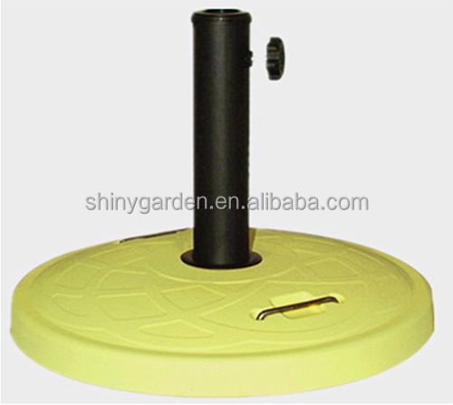 Umbrella Parasol Round Base, Concrete Weight Base With Handle