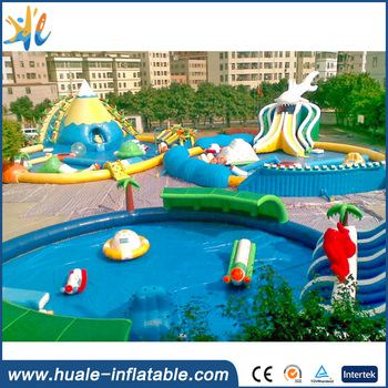 HUALE Giant inflatable water park with Pool and Slide