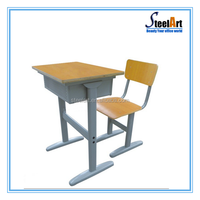 I shape school desk dimensions with height adjustable metal desk frame