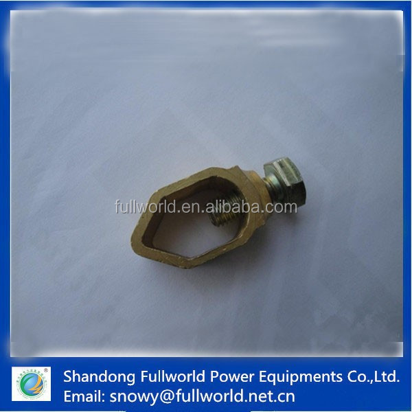 Earthing rod clamp for earthing rod