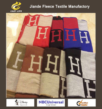 Top wool cashmere 55*69 inch Brand Designer H Letter Home Sofa Blankets Woolen Throw Winter Plaid Blanket