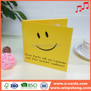 FSC paper music happy birthday greeting card