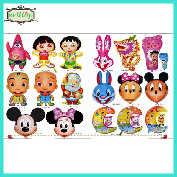 2014 high quality different size foil cartoon character balloons