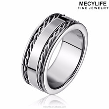 MECYLIFE Stainless Steel Ring Fashion Women's Wire Cable Ring