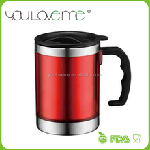 customized eco friendly single wall stainless steel m&m coffee mug