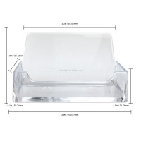 wholesale Clear Acrylic Single Compartment Desktop Business Card Holder Display Stand